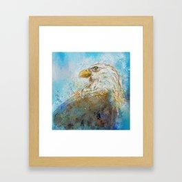 Expressive Bald Eagle Framed Art Print