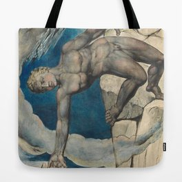 William Blake - Antaeus Setting Down Dante And Virgil In The Last Circle Of Hell Tote Bag