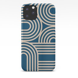 Abstraction_WAVE_GRAPHIC_VISUAL_ART_Minimalism_001 iPhone Case