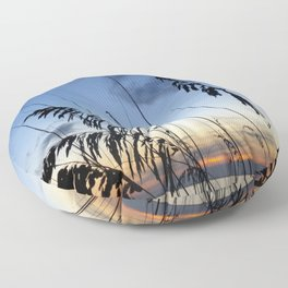 Sea Oats Silhouette Floor Pillow