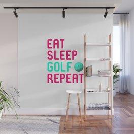 Eat Sleep Golf Driving Range Golfer Wall Mural