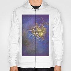 Gold star with purple  mandala Hoody