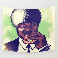 pulp Wall Tapestries featuring Pulp Fiction by ARTBYSKINGS