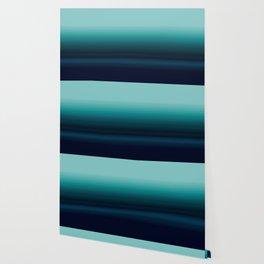 Teal to Indigo Ombre Design Wallpaper