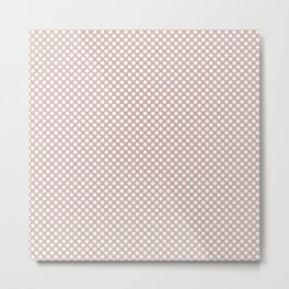 Rose Smoke and White Polka Dots Metal Print