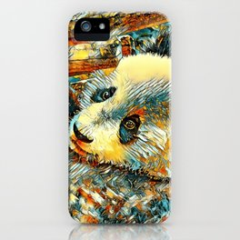 AnimalArt_Panda_20180102_by_JAMColors iPhone Case