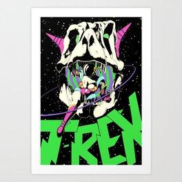 T-REX Color Art Print