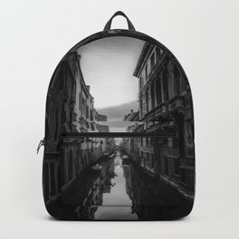 Wonderful View of a Venice's Canal at Sunset - Landscape Art - Italy and Venice City Lovers - Black and White - Amazing Oil painting Backpack