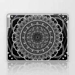 Black and White Geometric Mandala Laptop & iPad Skin
