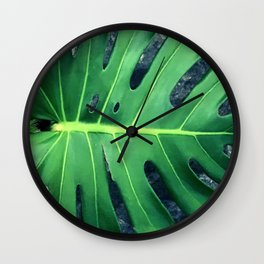 Stunning Palm Leaf In Mindfulness Repose Wall Clock