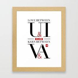 Kerning Love Framed Art Print