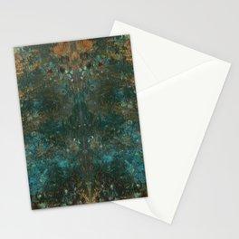 Rorschach Patina Blue Stationery Cards