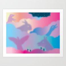 Aurora Borealis Explained Art Print