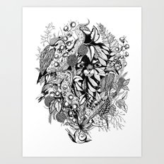 Snail Island Art Print