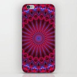 Violet, pink and red mandala iPhone Skin