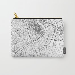 Shanghai White Map Carry-All Pouch
