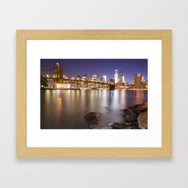 Manhattan, New York Framed Art Print