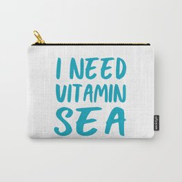 I Need Vitamin Sea - Blue and White Carry-All Pouch