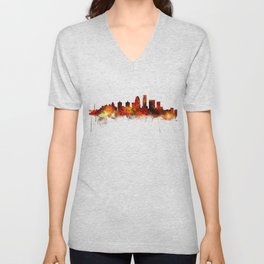 Louisville Kentucky City Skyline Unisex V-Neck