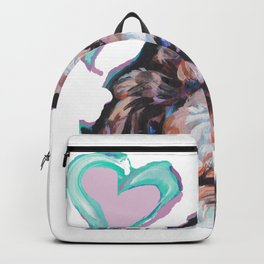 Doodle Portrait Fun Dog bright colorful Pop Art Paintingby LEA Backpack