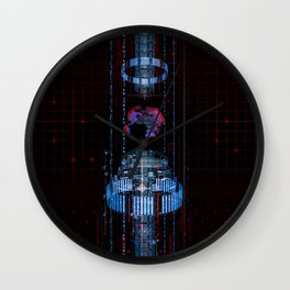 Virtual Data Earth Wall Clock
