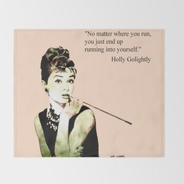 MISS GLOLIGHTLY - Breakfast at Tiffany´s - QUOTE Throw Blanket