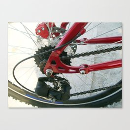 Road bike universal close-up in detail Canvas Print