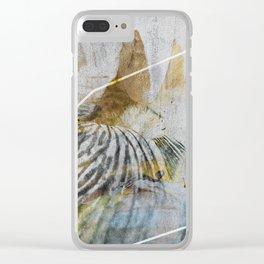 Iris_01c Clear iPhone Case
