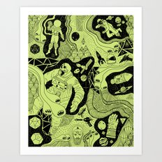Cosmic Atomic  Art Print