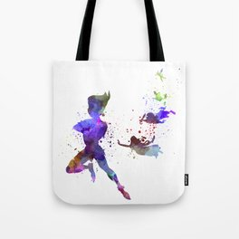 Peter Pan in watercolor Tote Bag