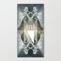 pi Canvas Prints featuring pi by Anna Pietrzak