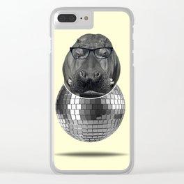 Hippo disco Clear iPhone Case