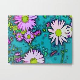 Summer Daisy - Mint Metal Print