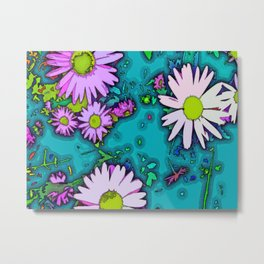 Summer Daisy - Mint Metal Print
