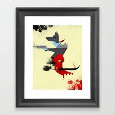 Red Hood & The Badass Wolf Redux Framed Art Print
