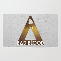bastille Area & Throw Rugs featuring Bastille #1 Bad Blood by Thafrayer