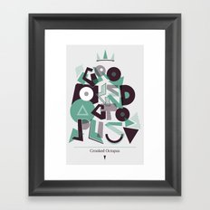 Crooked Typography Framed Art Print