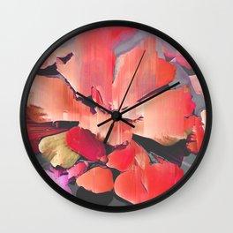 Glitch Petals Wall Clock