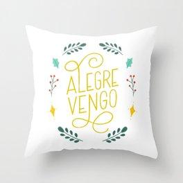 Alegre Vengo - Dominican Christmas Series by gabba delgado Throw Pillow