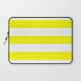 Sponge - solid color - white stripes pattern Laptop Sleeve