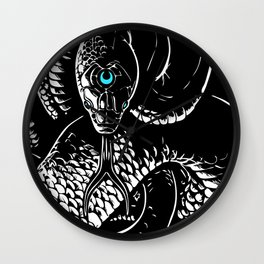 Snake Meditation Wall Clock