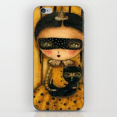 The Halloween Witch And The Black Cat iPhone & iPod Skin