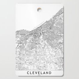 Cleveland White Map Cutting Board
