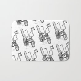 Cartoon Retro Mod Stingray Eyeball Shifter Muscle Bike Bicycle Bath Mat