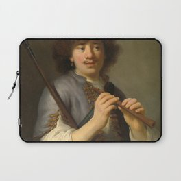 Govert Flinck - Rembrandt as sheperd with staff and flute Laptop Sleeve