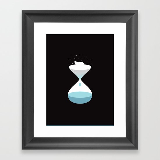 terminally ill polar bear Framed Art Print