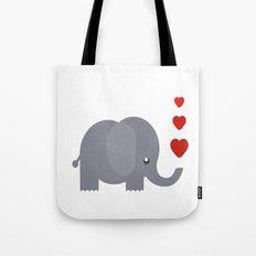 Cute Baby Elephant Tote Bag