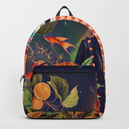 Floral Puffin Backpack