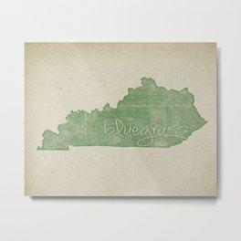Vintage Kentucky Bluegrass Metal Print