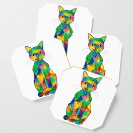 Rainbow Cat Coaster